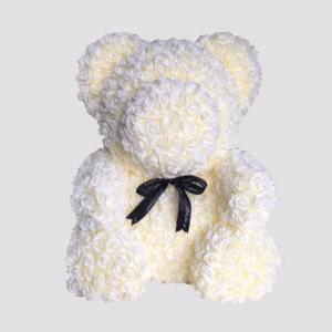 דובי פרחים שמנת