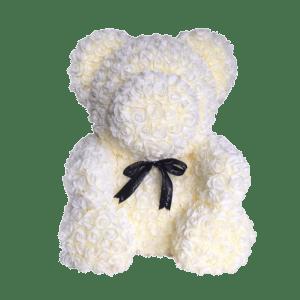 דובי פרחים שמנת ענק + מארז מתנה