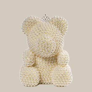 """דובי פנינים 25 ס""""מ בינוני+ מארז מתנה"""