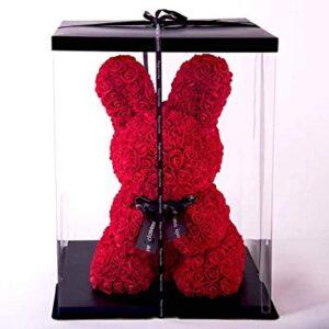ארנב מפרחים אדום+ מארז מתנה