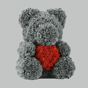 דובי פרחים אפור