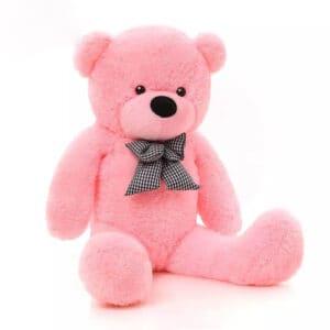 """דגם """"בו-בו"""" דובי גדול עם פפיון 1 מטר בצבע ורוד"""