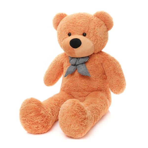דובי ענק חום בהיר כתום בגודל 2 מטר