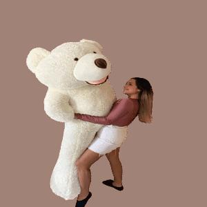 דובי ענק אמריקאי 2 מטר מנוקד  בצבע שמנת