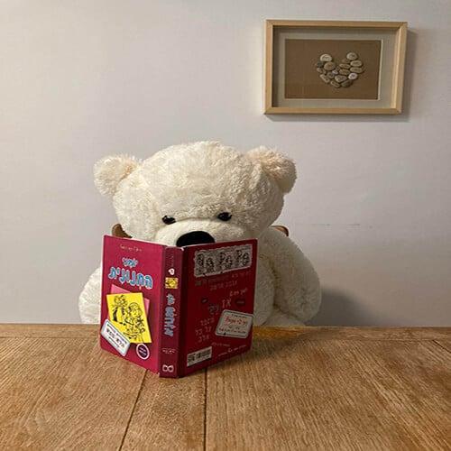 דובי ענק 1 מטר שמנת