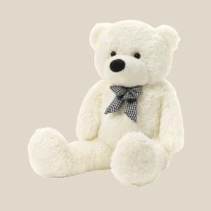 דובי ענק עם פפיון   1.6 מטר פרוותי לבן