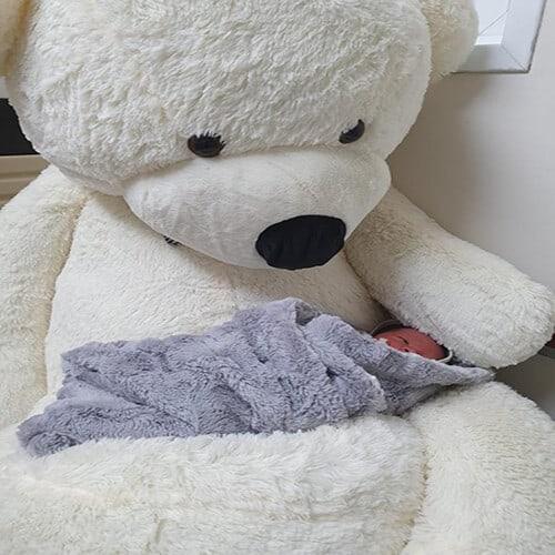 דובי ענק 2 מטר שמנת