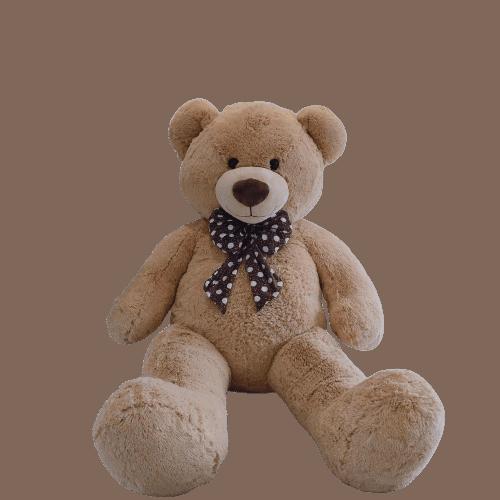 דובי ענק חום בהיר דגם שמן בגודל 1.6 מטר