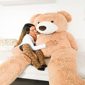 דגם טומי- דובי ענק  2 מטר פרוותי – חום בהיר
