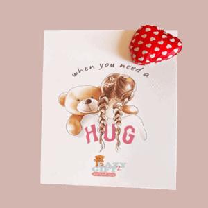 מכתב ברכה מעוצב+שוקולד