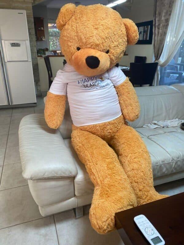 דובי 2 מטר חום בהיר